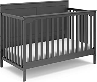 Storkcraft Alpine 4-in-1 Convertible Crib (White) – Easily converts to toddler bed, daybed, or full-size bed.