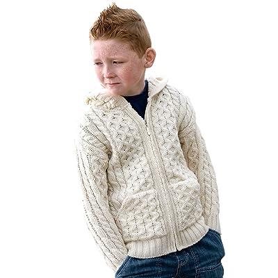 100% Irish Merino Wool Hood Zip Sweater 2-3 yrs
