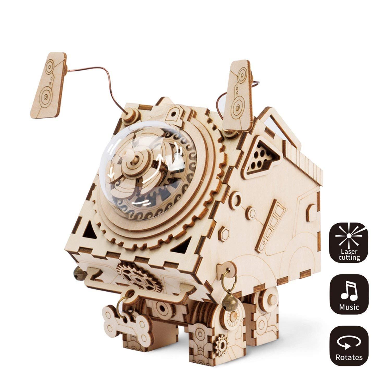 全商品オープニング価格! LHYP 3D木製パズル ギア 手作り オルゴール オルゴール メカニカルモデルキット 子供や大人向け 誕生日 LHYP ギア/子供の日/イースターへのプレゼントに最適 B07GLJKR3T, ハシマシ:f2778993 --- a0267596.xsph.ru