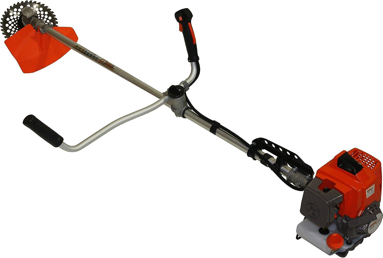 Desbrozadora com potente motor a gasolina 63cc, disco widia 36d, tubo 32mm uso profesional: Amazon.es: Jardín