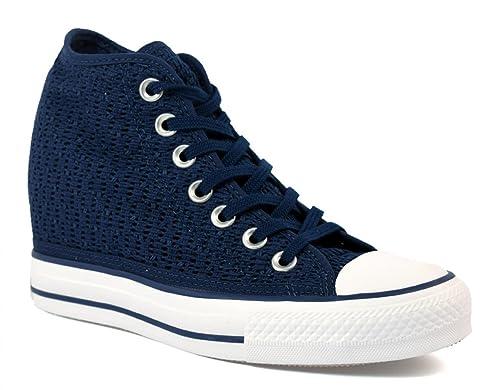 converse mid lux blu