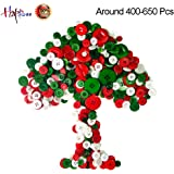 Happlee Favorite Findings Basic Buttons in Assorted Colors & Sizes, Round Resin Buttons for Sewing,Art & Crafts Projects DIY Decoration for Christmas and More (400-650Pcs/Jar)