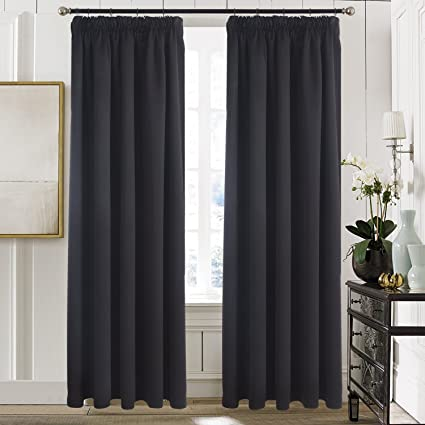475c1cc2e9833b Aquazolax Bedroom Blackout Curtains Window Treatment - Premium Blackout  Cutain Panels Thermal Insulated Drapes for Baby
