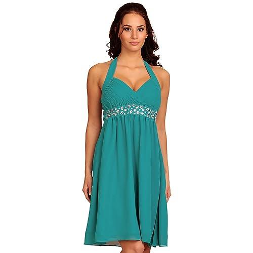 MY EVENING DRESS Short Womens Cocktail Dress Halterneck Evening Dresses Formal Gown