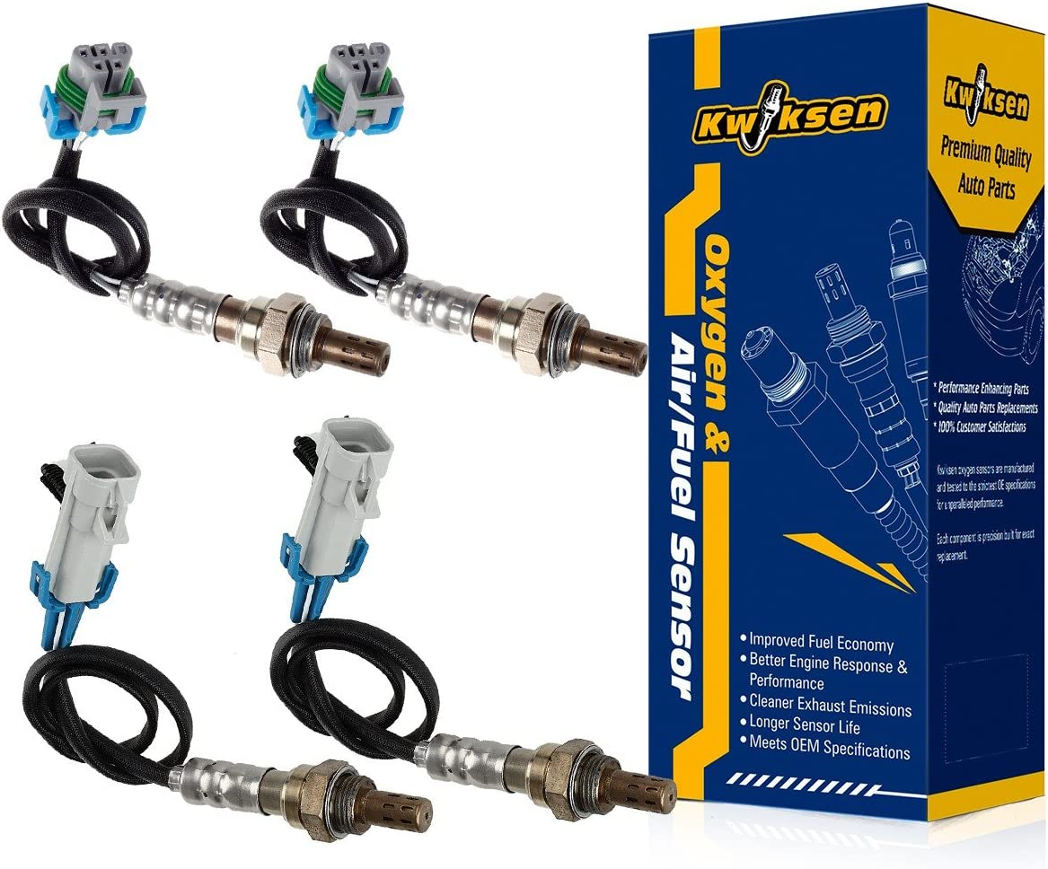 4pcs Heated Upstream and Downstream O2 Oxygen Sensor 234-4668 and 234-4294 Sensor 1 and Sensor 2 for 2007-2008 Saturn Outlook 3.6L for 2007-2008 GMC Acadia 3.6L