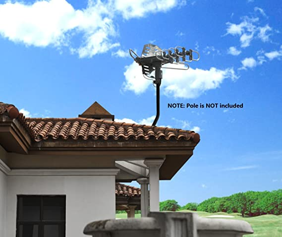 McDuory Amplified Digital Outdoor HDTV Antenna 150 Miles Long Range