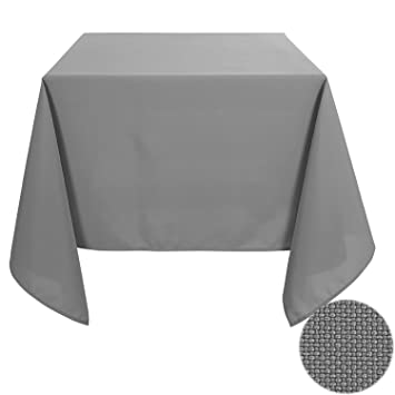 Deconovo Solid Oxford Decorative Square Water Resistant Tablecloth For  Dining Room, 54x54 Inch,