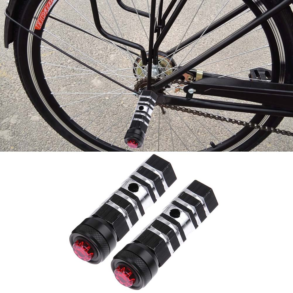 Bicycle Pedal Rear Seat Cycling Foot pegs Black Replacement Accessories
