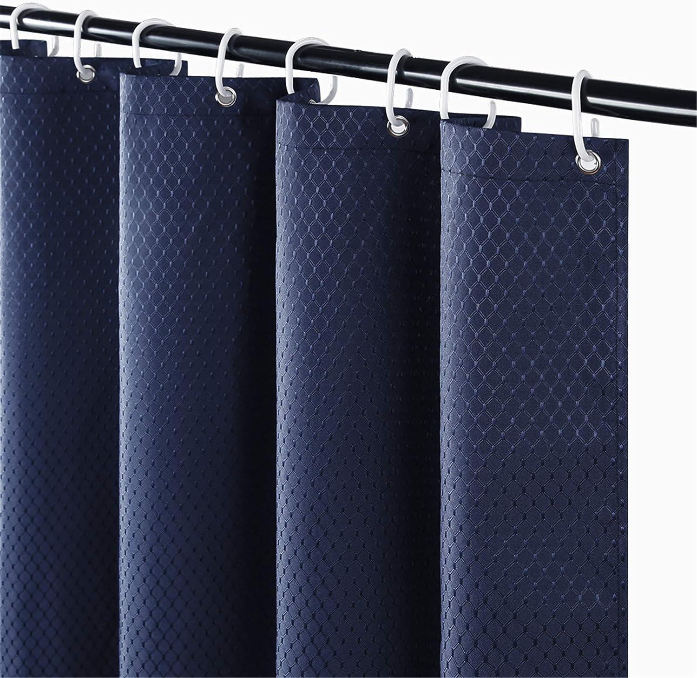Tenda da doccia Shower Curtain Blue Chinese Wind Speed Dry Muffa Shower Shower Ttain Rod Black Punzonatura ad Alto carico Libero LCSHAN Size : 80 * 180cm