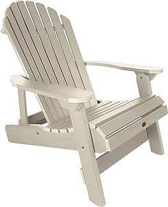 Highwood AD-KING1-WAE Hamilton Folding and Reclining Adirondack Chair, King Size, Whitewash