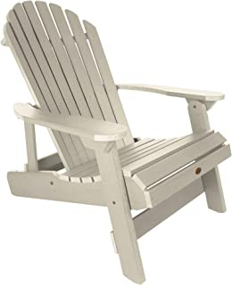 product image for Highwood AD-KING1-WAE Hamilton Folding and Reclining Adirondack Chair, King Size, Whitewash