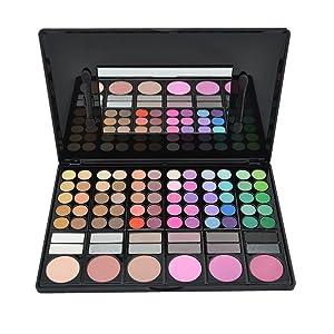 DISINO Paleta de Sombra de Ojos Colección Vivo Brillante Kit de Maquillaje Caja Profesional para Maquillaje Accesorio cosmético de Belleza (Paleta de Sombra de Ojos de 78 Colores) – Dibujo 2