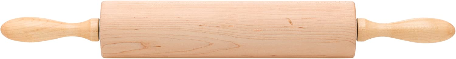 Ateco 12275 Professional Rolling Pin, 12-Inch Barrel, Made of SolidRock Maple, Made in the USA