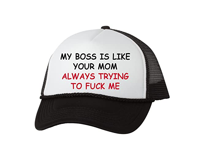 f706ebe4c8ae5 Rogue River Tactical Funny Trucker Hat My Boss Is Like Your Mom Baseball Cap  Retro Vintage