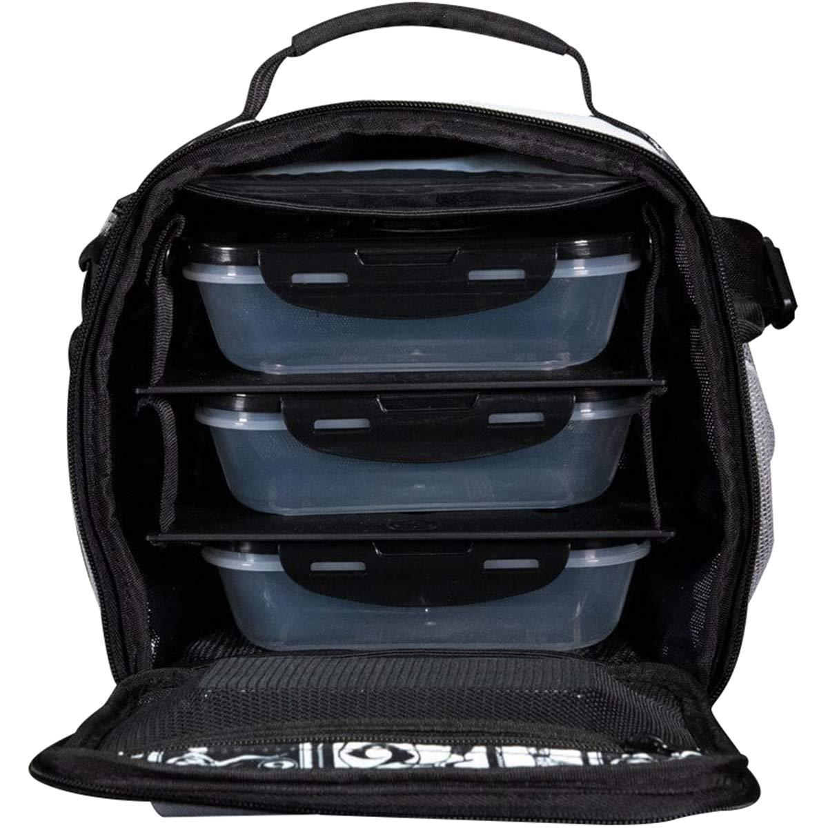 フィットネス ザキューブ 食事管理バッグ 6パック - グレー/ブラック B07GPRWK6H