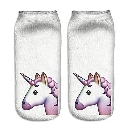 Calcetines tobilleros deportivos, de la marca Jysport, con estampado de unicornio, unicorn in