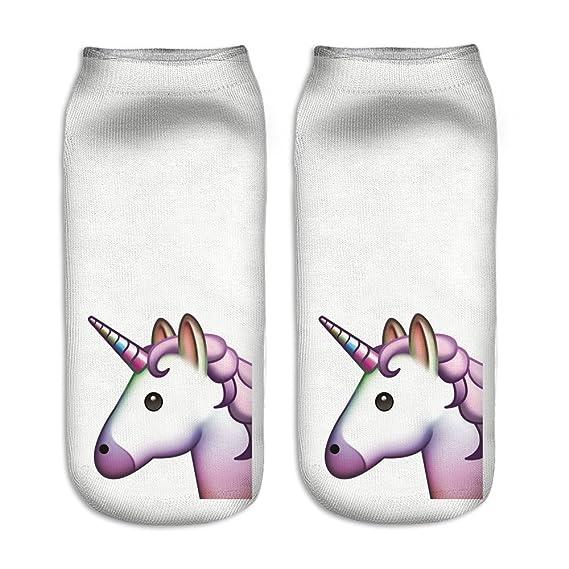 Calcetines tobilleros deportivos, de la marca Jysport, con estampado de unicornio, unicorn in white: Amazon.es: Deportes y aire libre