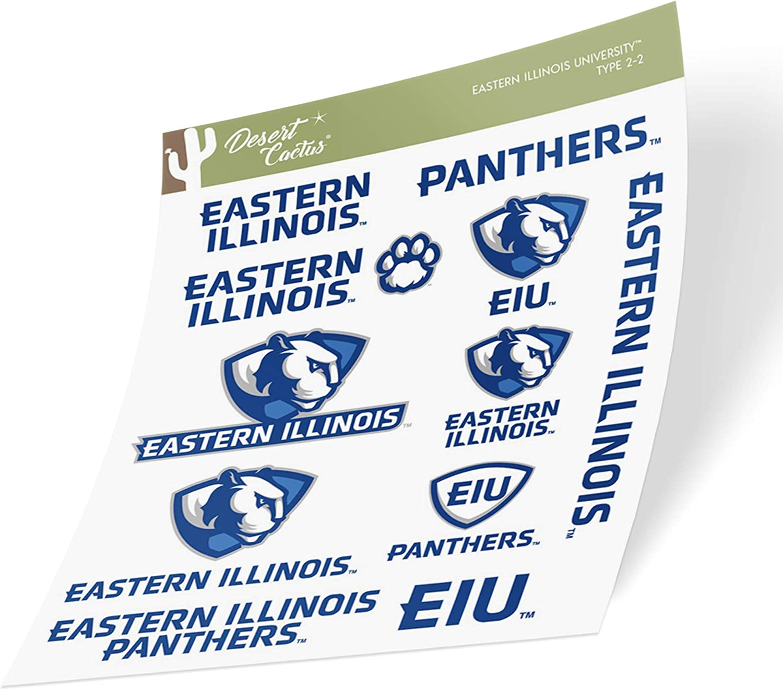 Eastern Illinois University EIU Panthers NCAA Sticker Vinyl Decal Laptop Water Bottle Car Scrapbook (Type 2 Sheet)