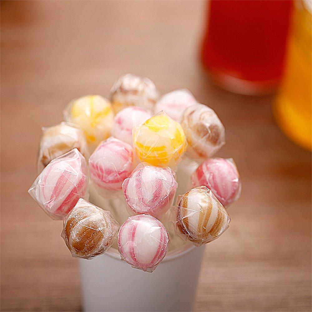 600 Pcs BPA-Free Lollipop Set Including 200 pack Lollipop treat Sticks,200 Pieces of Lollipop Parcel Bags and 200 Pieces of Wire Lines(8 Different Colors) by HaiMay (Image #6)