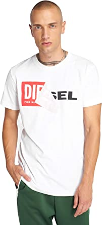 Diesel 00S02X 0091B Camiseta Hombre Blanco XL: Amazon.es: Ropa y accesorios