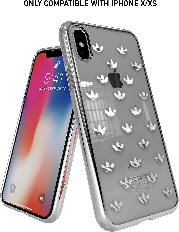 Adidas Originals Kompatibel Mit Apple Iphone Xs Hülle Durchsichtige Tpu Handyhülle Klar Mit Metallic Logo Clear Case Auch Kompatibel Mit Apple Iphone X Transparent Elektronik