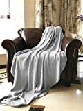 SUPER COZY 100% Bamboo Fiber Blanket. Ultra softness and smothness like silk. Drop well with heavy weight. Much better than cotton. PERFECT GIFT for anyone you love (TWIN, SILVER GREY)