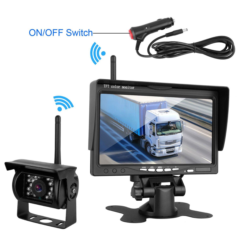dohonesbest wireless backup camera and monitor kit for rv truck ebay. Black Bedroom Furniture Sets. Home Design Ideas