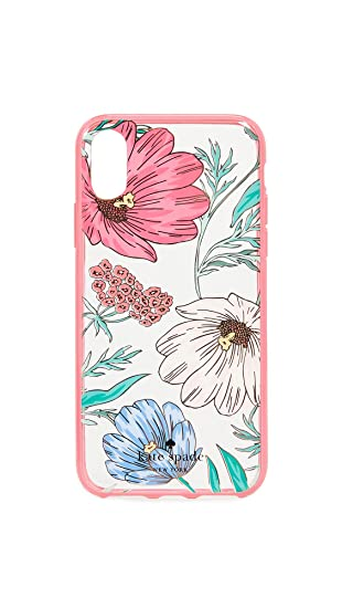 the latest c8bb1 ef992 Amazon.com: Kate Spade New York Blossom iPhone X Case, Clear Multi ...