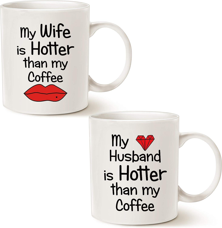 Amazon Com Mauag Couples Funny Coffee Mug Set Valentine S Day