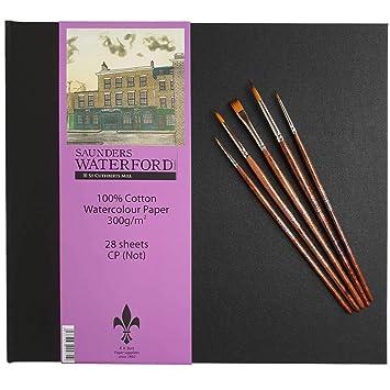 Saunders Waterford Artists - Libro de papel de acuarela (superficie prensada en frío) &