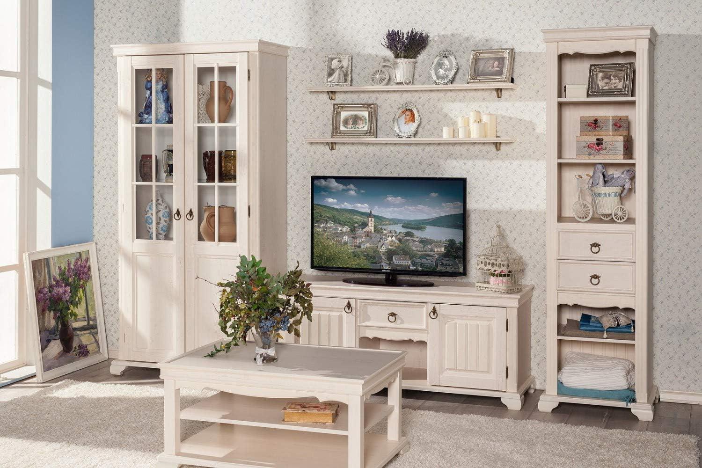 Amazon De Interdesign24 Amelie Wohnwand Set Landhausstil In Creme