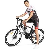 ANCHEER Bicicleta Eléctrica de Montaña, E-Bike 26 Pulgadas, Batería de Litio 250W 36V Desmontable, Sistema de…