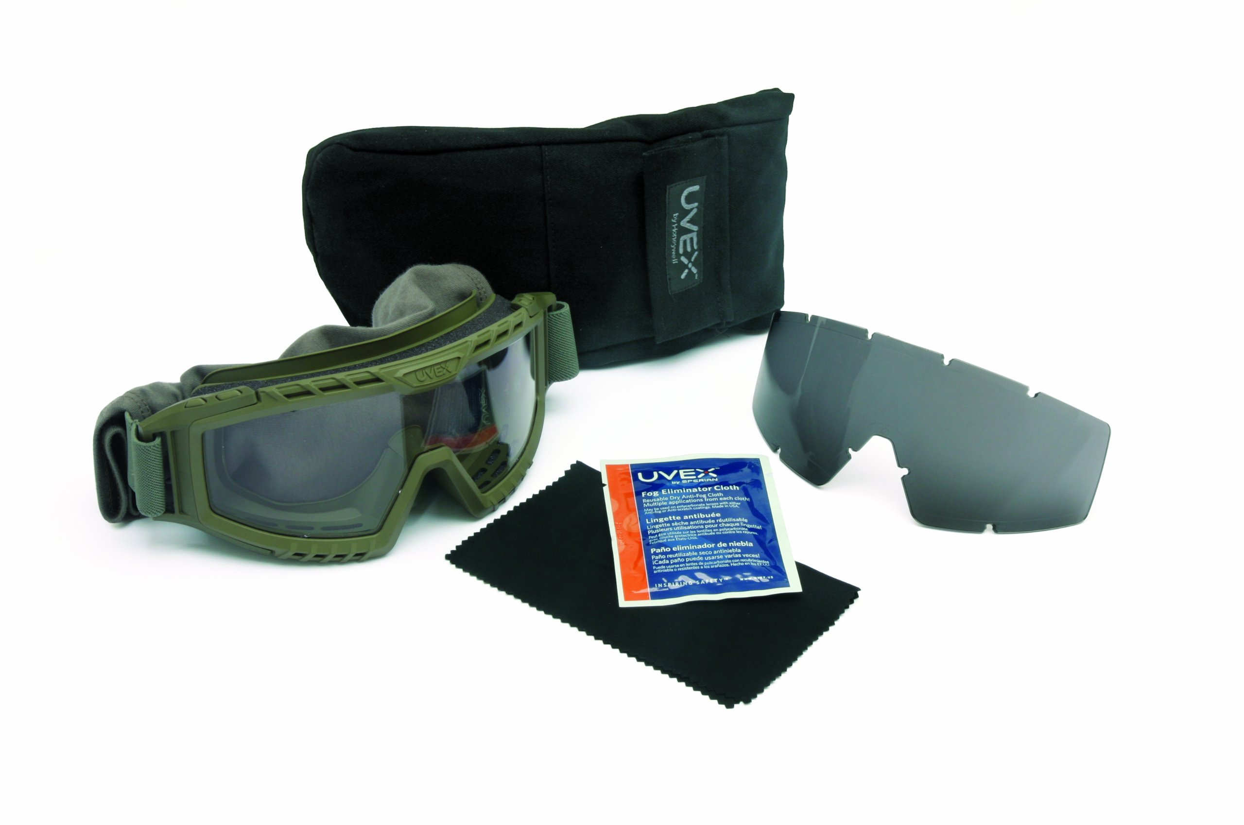 UVEX by Honeywell S0775D XMF Tactical Goggle, Foliage Green