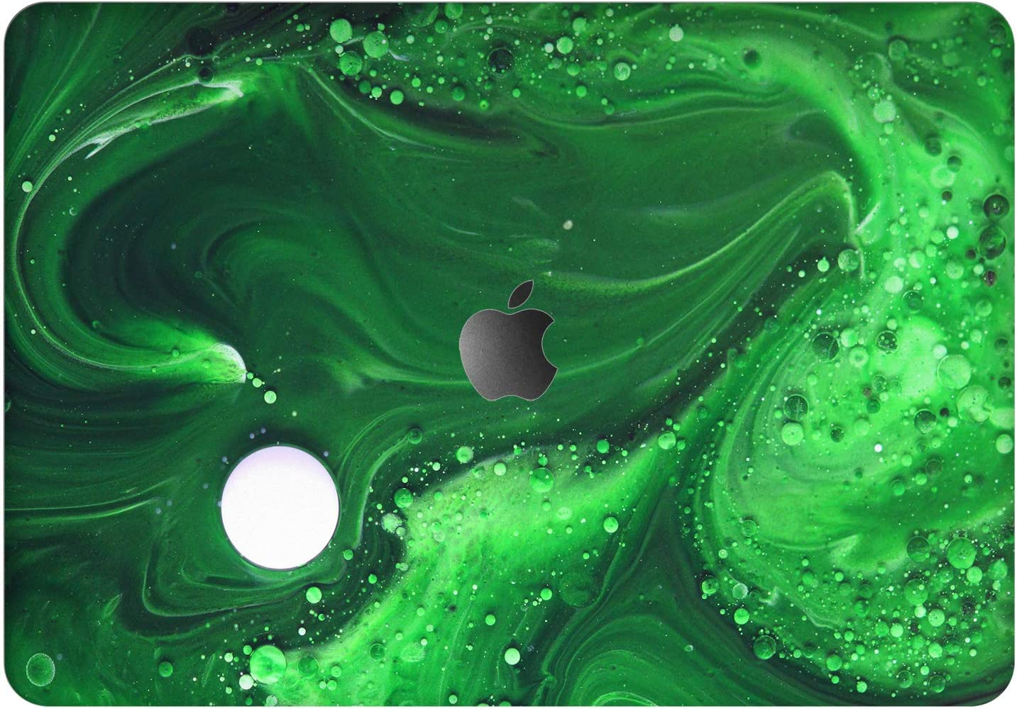 """Vonna Vinyl Decal Skin for Apple MacBook Pro 16"""" 2019 Pro 13"""" 2020 Retina 15"""" Air 13"""" 2018 Mac Air 11"""" Mac 12 Laptop Paint Texture Poison Oil Print Abstract Cover Protective Green Sticker Top t0203"""