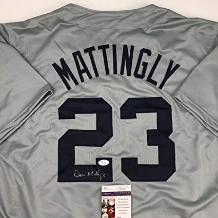 pretty nice 7483a 6dd17 Autographed/Signed Don Mattingly New York Grey Baseball ...