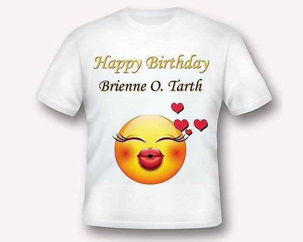 Custom Emoji Birthday Party Shirt T Tee Printed White TShirt