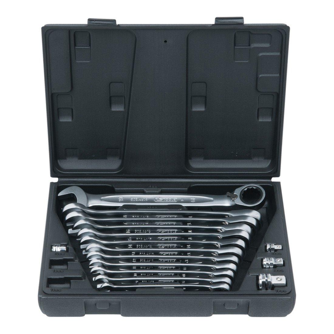 KS TOOLS 503.4666 Coffret clé mixte à cliquet réversible CHROMEplus 16 pcs, 8-19 mm 5034666
