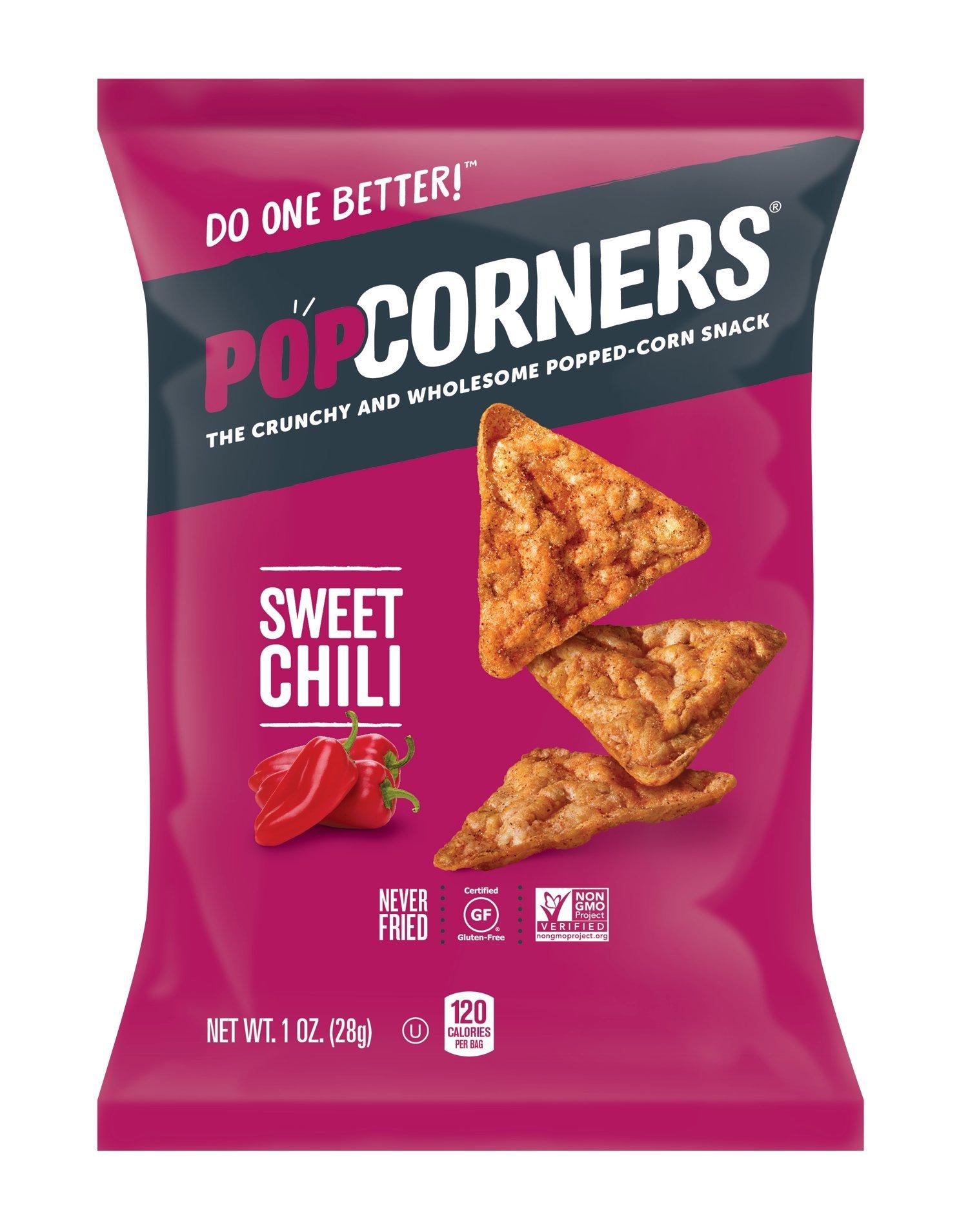 PopCorners Sweet Chili Snack Pack | Gluten Free, Vegan Snack | (40 Pack, 1 oz Snack Bags) by Popcorners