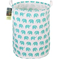 HUNRUNG Large Canvas Fabric Lightweight Storage Basket/Toy Organizer/Dirty Clothes Collapsible Waterproof for College…