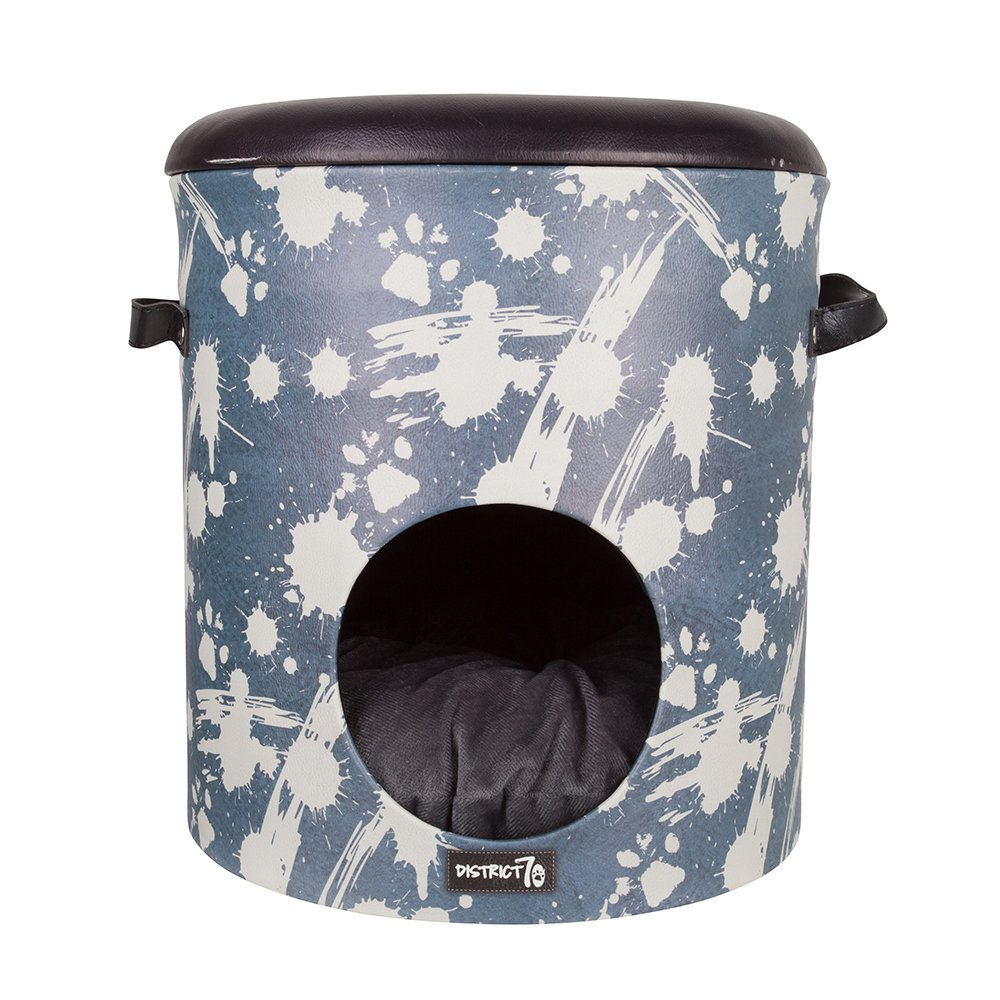 Denim bluee District 70 Bucket Dash  Cat House and Cat Den, 35 x 35 x 40 cm,  Denim blue