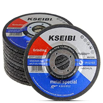 """Pc 4-1//2/"""" x 1//4/"""" x 7//8/"""" Grinding Wheels With Depressed Center For Metal 50"""