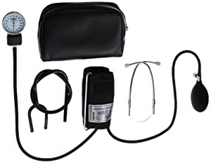 Labtron Home Blood Pressure Kit with Attached Stethoscope - Latex-Free Sphygmomanometer - Manual BP Monitor with Adult Cuff -242