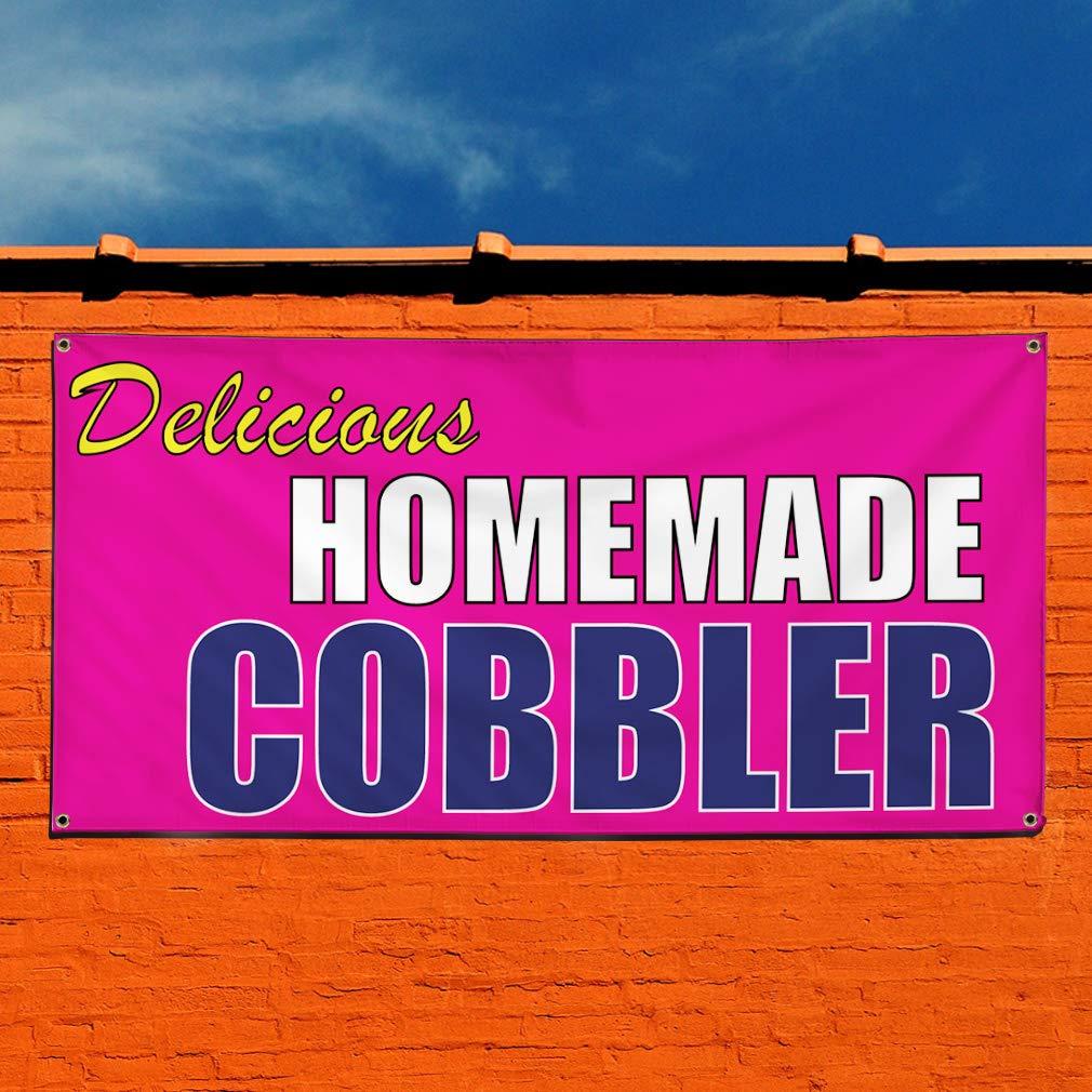 Vinyl Banner Sign Delicious Homemade Cobbler Cobbler Marketing Advertising Purple 8 Grommets Multiple Sizes Available One Banner 44inx110in