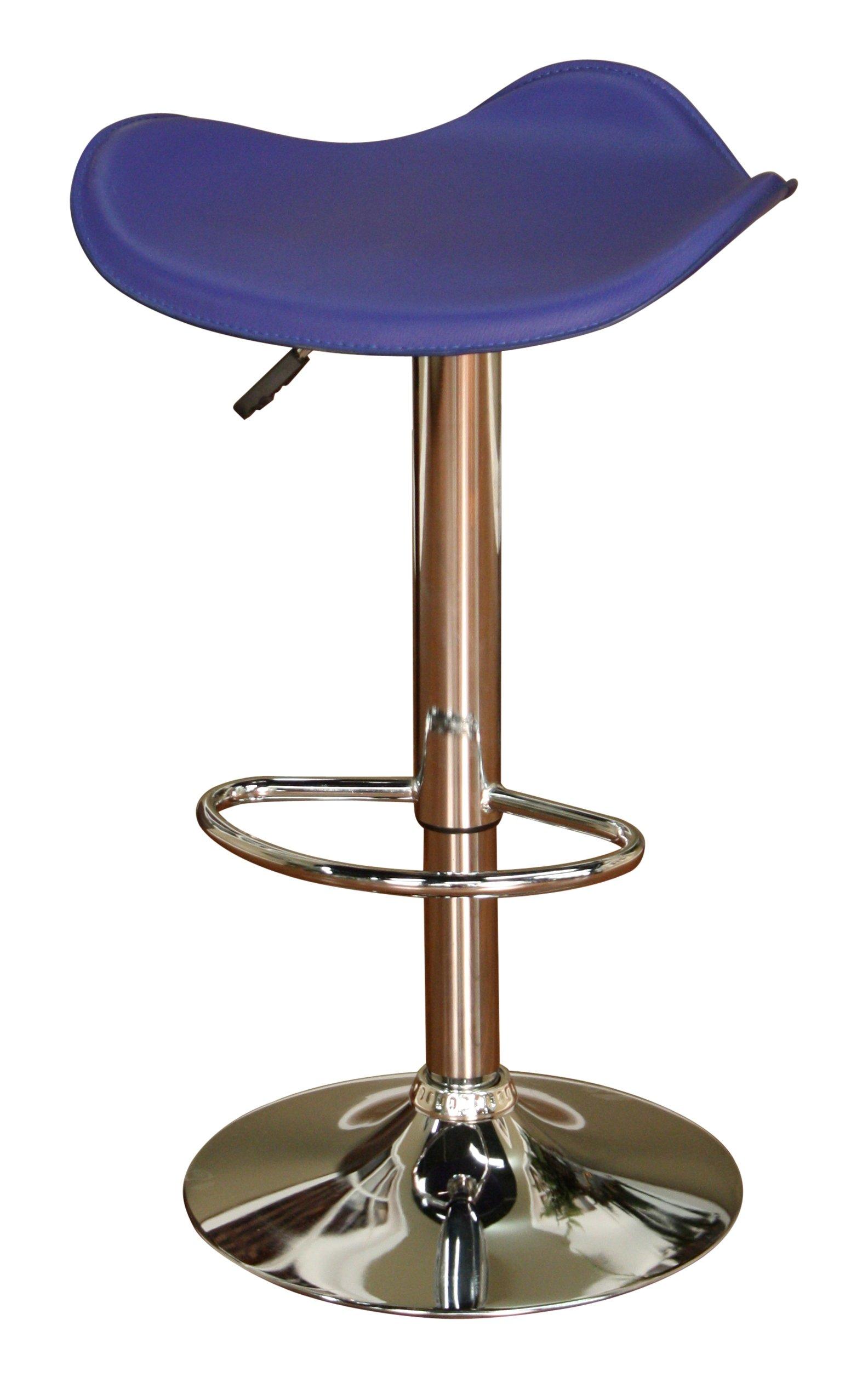 American Heritage Billiards Sloan Adjustable Height Stool with Blue Seat
