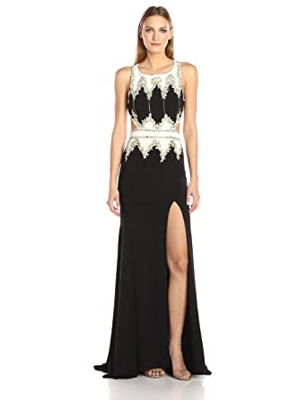 786c6731fc Amazon.com  Mac Duggal Women s Cut Out Beaded Gown  Clothing