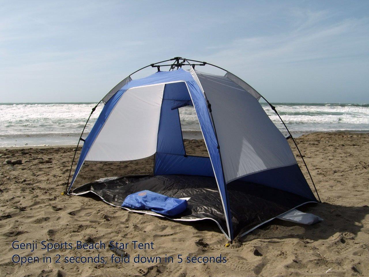 Amazon.com Genji Sports Instant Beach Star Tent Blue Sports u0026 Outdoors & Amazon.com: Genji Sports Instant Beach Star Tent Blue: Sports ...