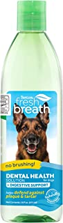 product image for Fresh Breath by TropiClean Oral Care Water Additive Plus Digestive Support for Pets, 16oz - Made in USA