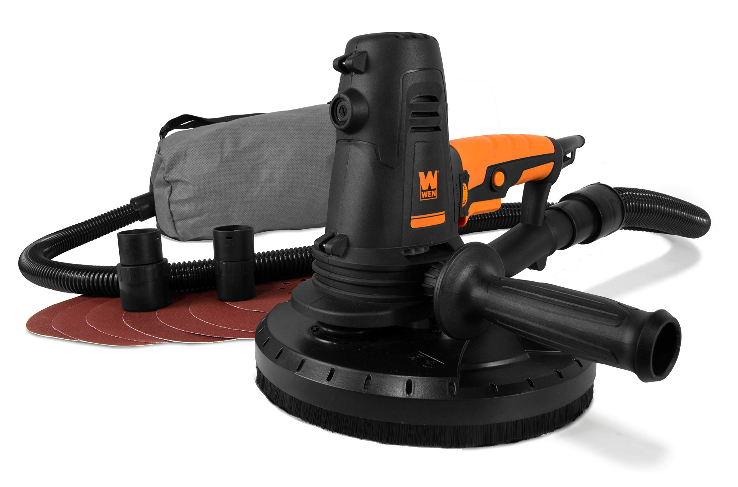 WEN 6362 10-Amp Variable Speed Handheld Drywall Sander with Sandpaper, Dust Hose and Collection Bag by WEN