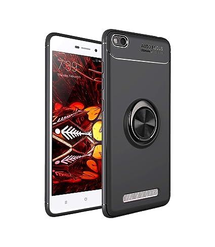 Ququcheng Funda Xiaomi Redmi 4A,Carcasa Xiaomi Redmi 4A Silicona Cover+Pantalla de Vidrio Templado Absorción de Choque Resistente Caso Skin Carcasa ...