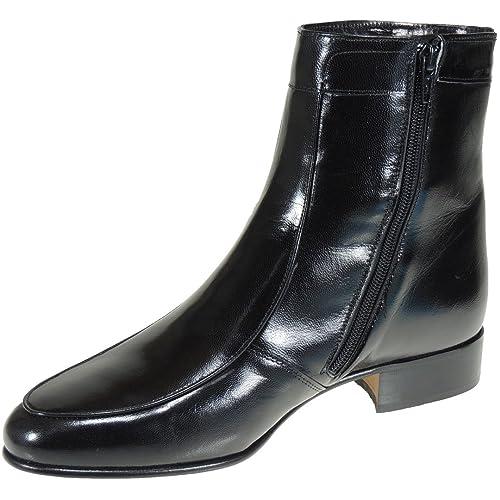 597a627c MARTTELY Design 5205 Bota Vestir en Piel Caprina y Tacón Bajo 3 Cm para  Hombre: Amazon.es: Zapatos y complementos